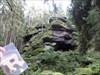 In Beelzebubs Futterschmiede motzt Schneewittchen granite rocks in a forest near the Bavarian town of Tirschenreuth