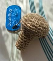 Crocheted Mushroom Trackable