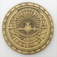Astrolabe Geocoin front