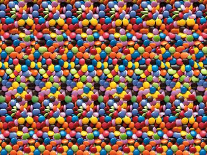 A smartie can only be counted