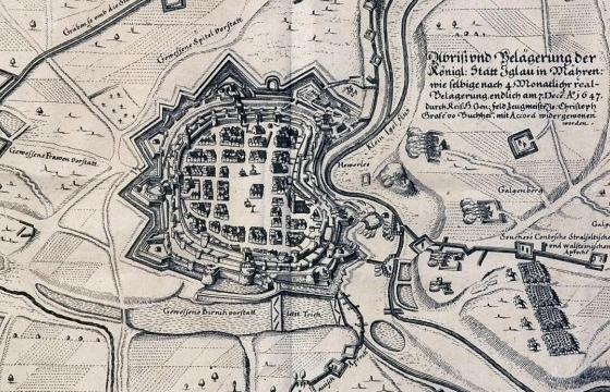 plan mesta z roku 1547