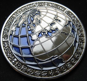 Vorderseite/Front of My World Geocoin