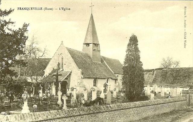 CPA église Franqueville