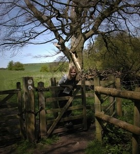 Bekie on the gate