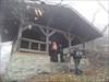 Pause im Nebel Rosserthütte