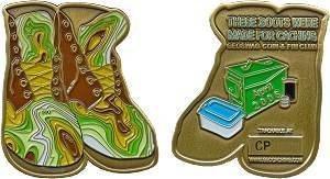 Geoswag Coin & Pin Club Geocoin - Camo Boots