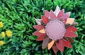 Sonnenblume rot