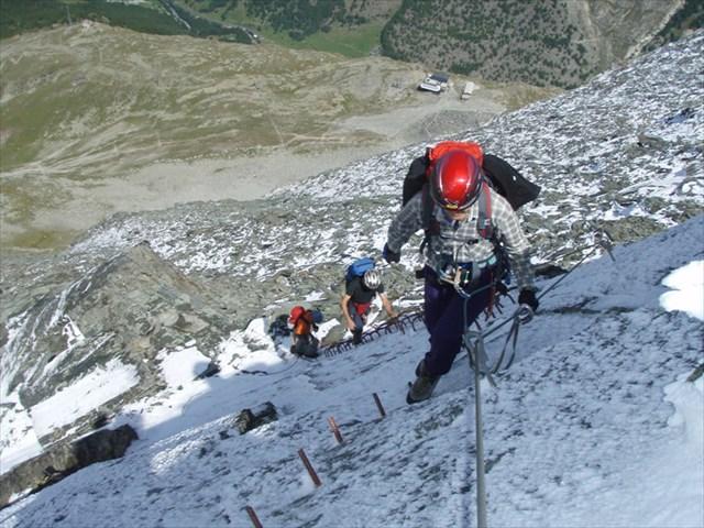 Klettersteig Y : Gc1fajm klettersteig mittaghorn traditional cache in valais