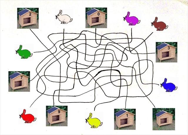 Der große Lageplan des Osterhasen