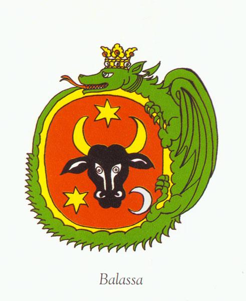 Hrad - erb rodu Balassa