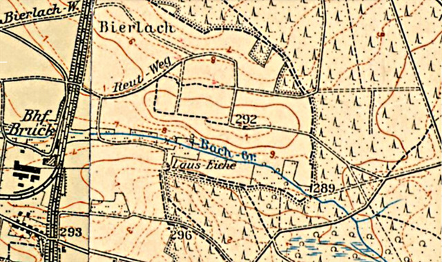 Luftbild von 1950; Lizenz: CC BY-ND; Bayerische Vermessungsverwaltung, http://geodaten.bayern.de/