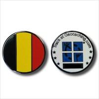 Belgium Flag Micro Geocoin