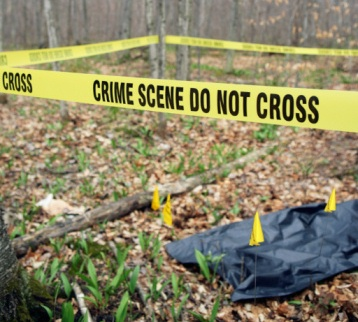 Outdoor crime scene