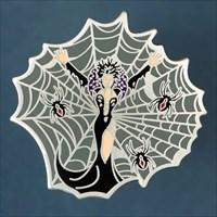 Black Widow - antik silber - front