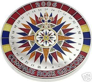 2006 Compass Rose Geocoin