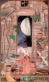 A shed with a view: the Tarot Card (10 Swords)