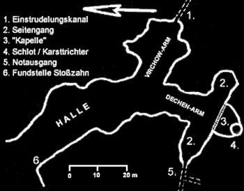 Skizze der Balver Höhle