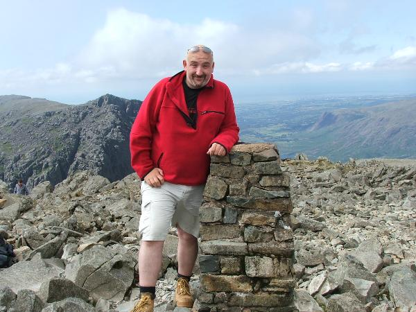 Simply Paul at the top of Scafell Pike during a cache event in August 2006