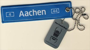 The Blue Aachen Travel Bug