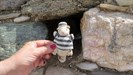 Rocky at the dungeon in the Kastro Antiparos