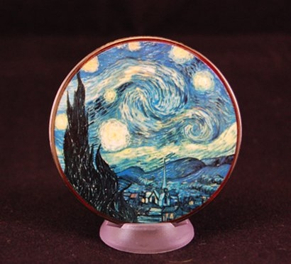 Ancient Cultures Geocoin - Vincent Van Gogh - Sternennacht