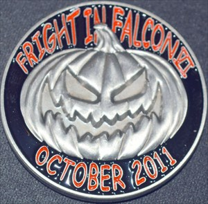 Fright in Falcon VI (2011) Geocoin