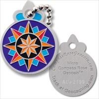 Compass Rose Geocoin Micro