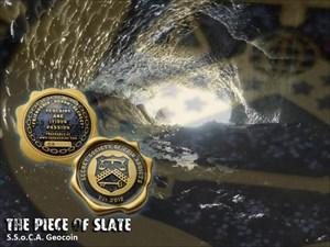 SSoCA Geocoin -  The Piece Of Slate