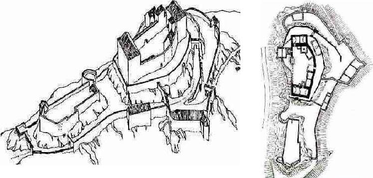 Historikové se domnívají, že za držení Lichtenburků mohl mít hrad tuto podobu a půdorys.