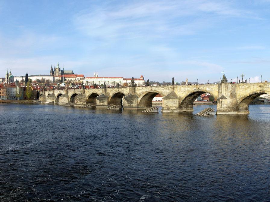 Charles bridge and the castle, Prague, Czech Republic