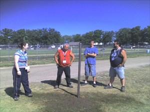 Tod, Rod, Kaleb and a friend at the Bash