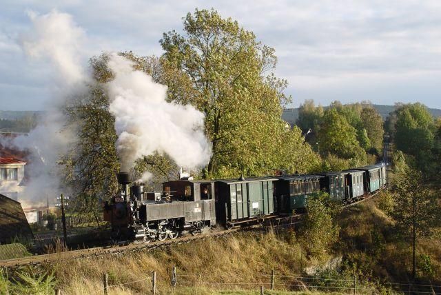 Historicky vlak na uzkokolejce