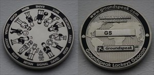 Groundspeak Lackey Geocoin 2005