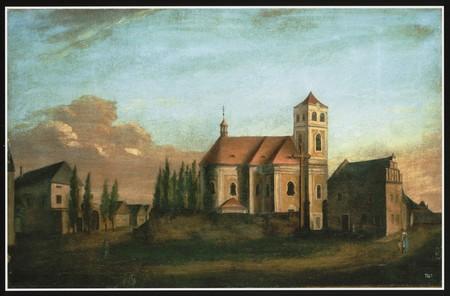 Horický kostel naobraze P. Huga Seykory z r. 1820