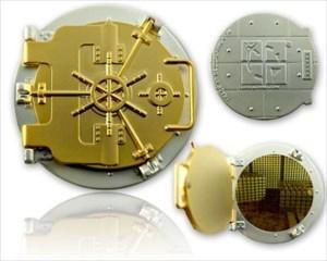 Tresor Geocoin (funktional) Satin Gold/Satin Silbe