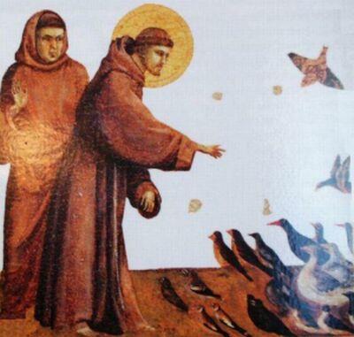 Sv. František káže ptákum