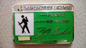 Geocacher's License Geocoin 2