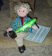 Flat Stanley and the signature minnow.