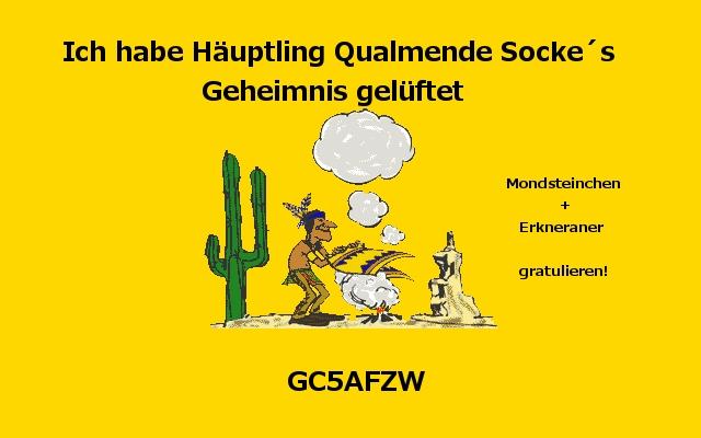 Häuptling Qualmende Socke am 27.11.14