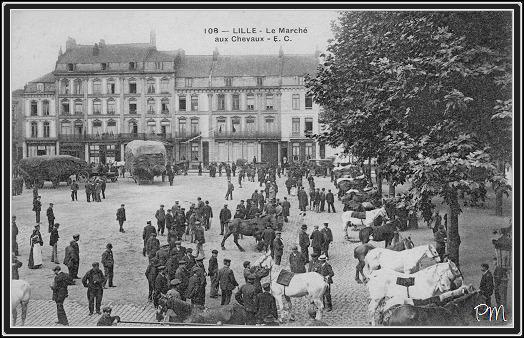 La place du Marché aux Chevaux avant la Première Guerre Mondiale