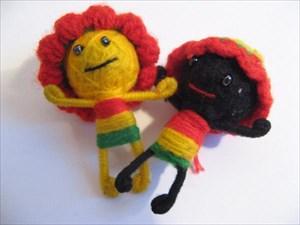 me (yellow) and my friend (dark)