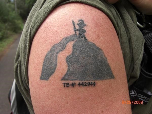 (TBB5CA) Travel Bug Tattoo
