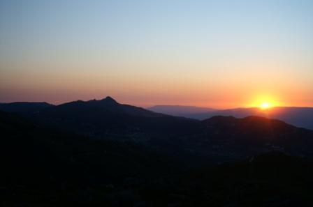 Pôr do sol vista das Galinheiras