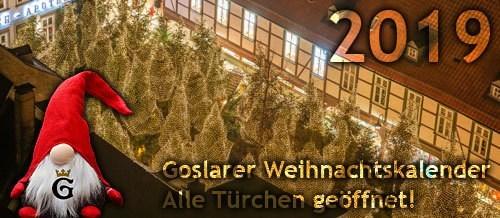 Goslarer Weihnachtskalender 2019: Ich habe alle Türchen geöffnet