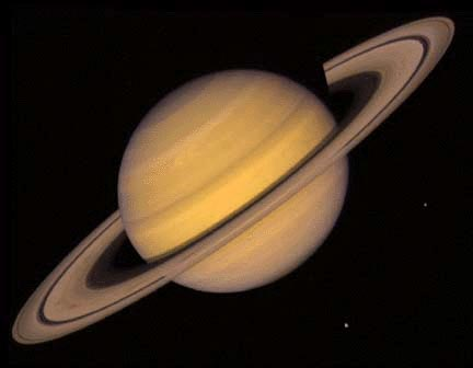 Saturn by Voyager 2