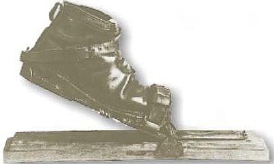 Vázání lyží s volnou patou, díky kterému mohli alpští lyžaři dělat půlkruhové obloučky.