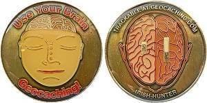 Irish Hunter Geocoin - Use your Brain