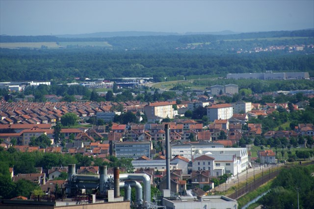 Vue sur Solvay et les cités de Dombasle