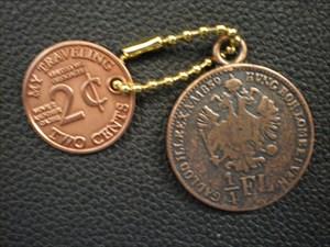 2 Cents Münzen TB/Coin Vorderseite