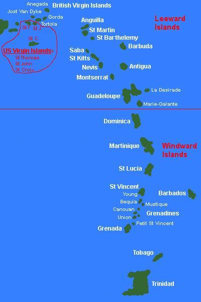 GC2JYTW Destination: Leeward Islands (US Virgin Islands ...